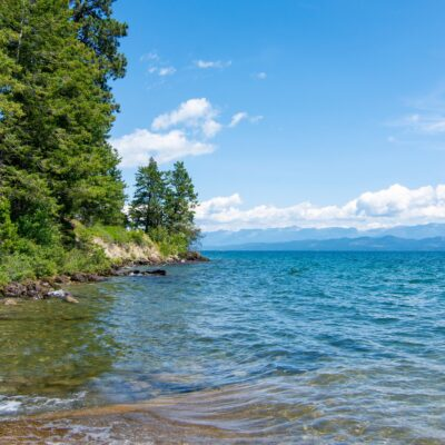 Beautiful landscape of Flathead Lake in Montana.