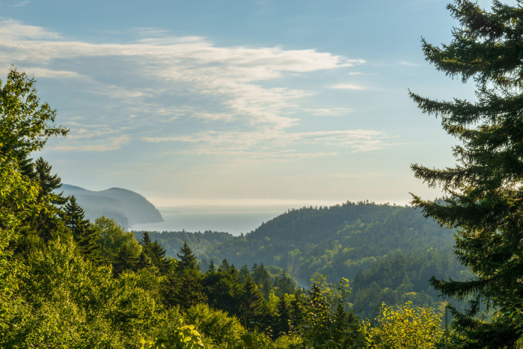 Beautiful landscape of Fundy National Park in Canada.