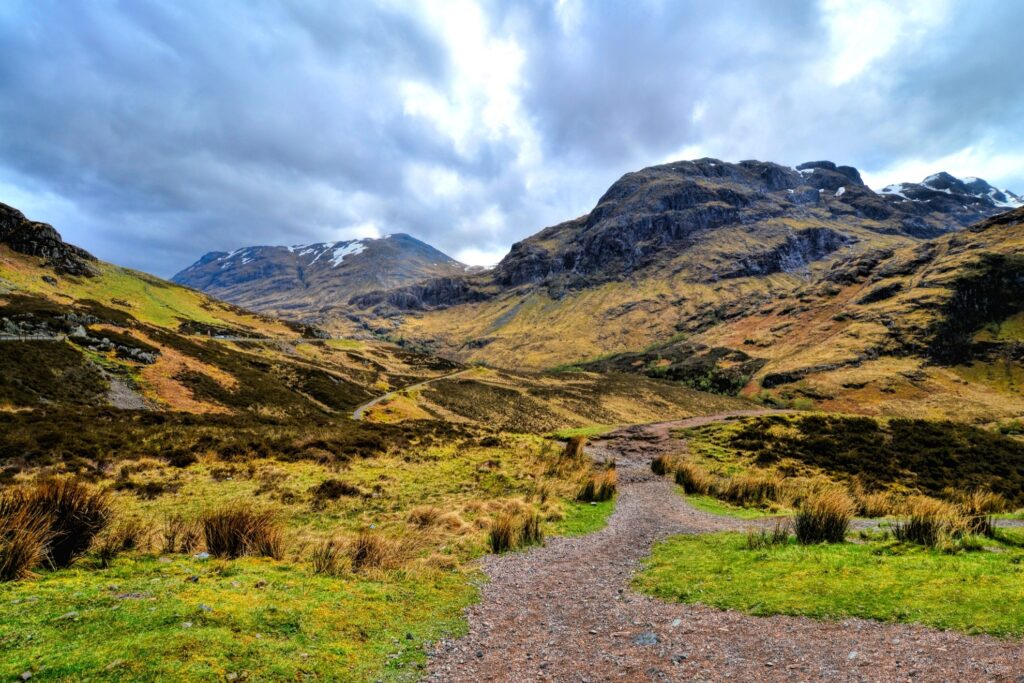 Beautiful landscape of Glen Coe.