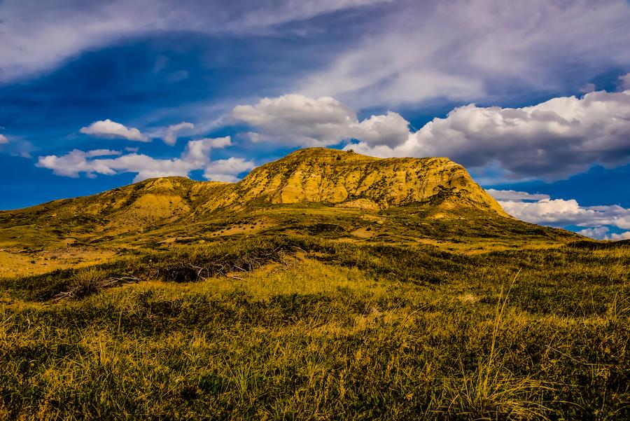 Beautiful landscape of Grasslands National Park.
