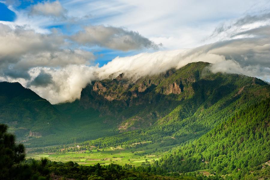 Beautiful landscape of La Palma in the Canary Islands.