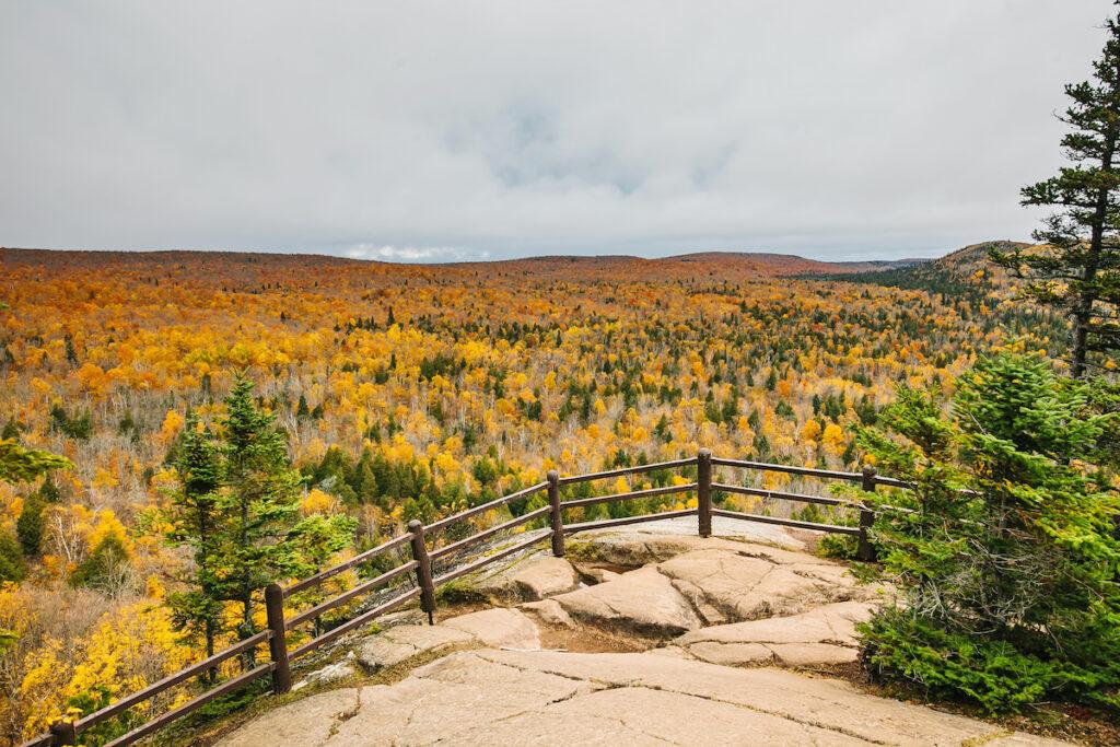 Beautiful landscape of Lutsen, Minnesota, during the fall.