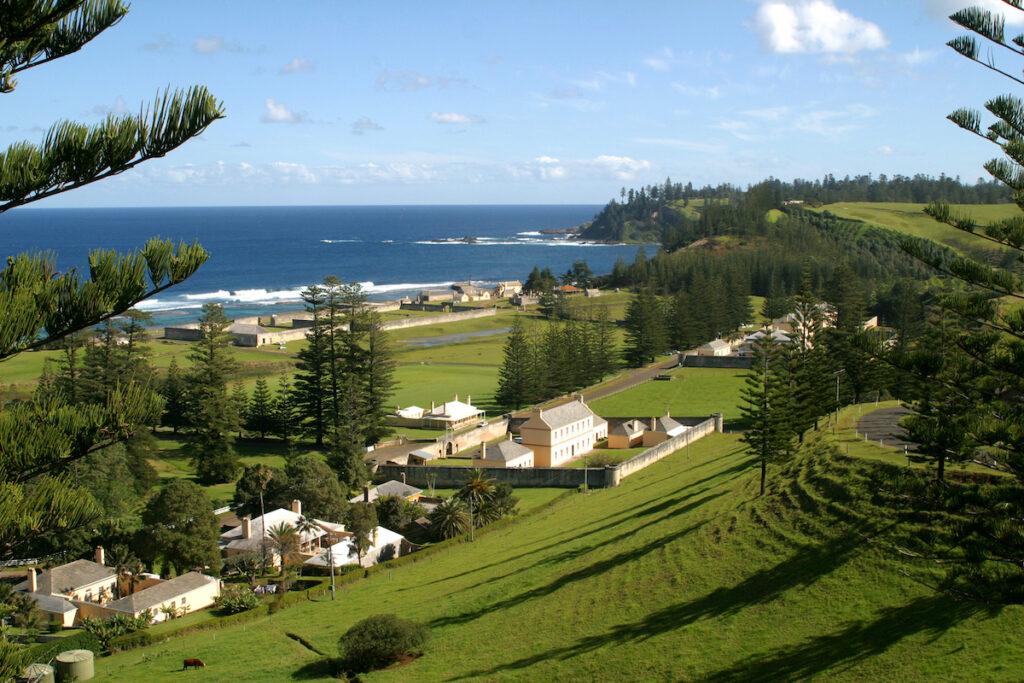 Beautiful landscape of Norfolk Island.