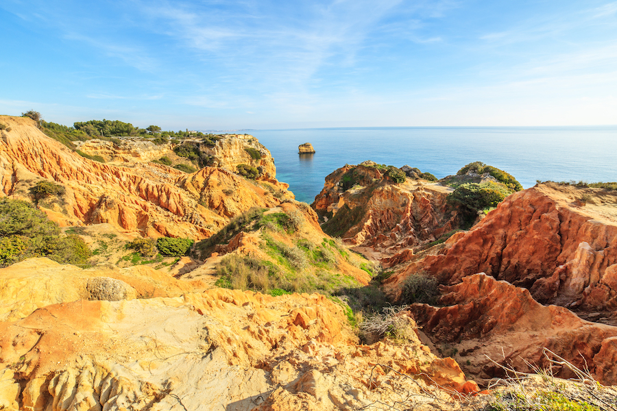 Beautiful landscape of Ria Formosa in Portugal.
