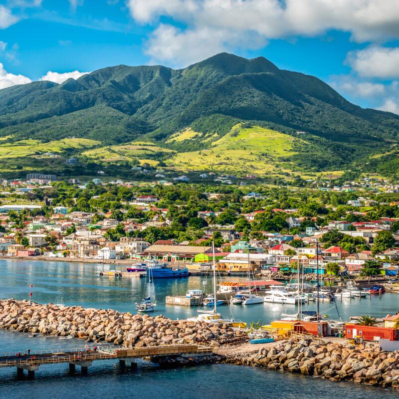 Beautiful landscape of St. Kitts.