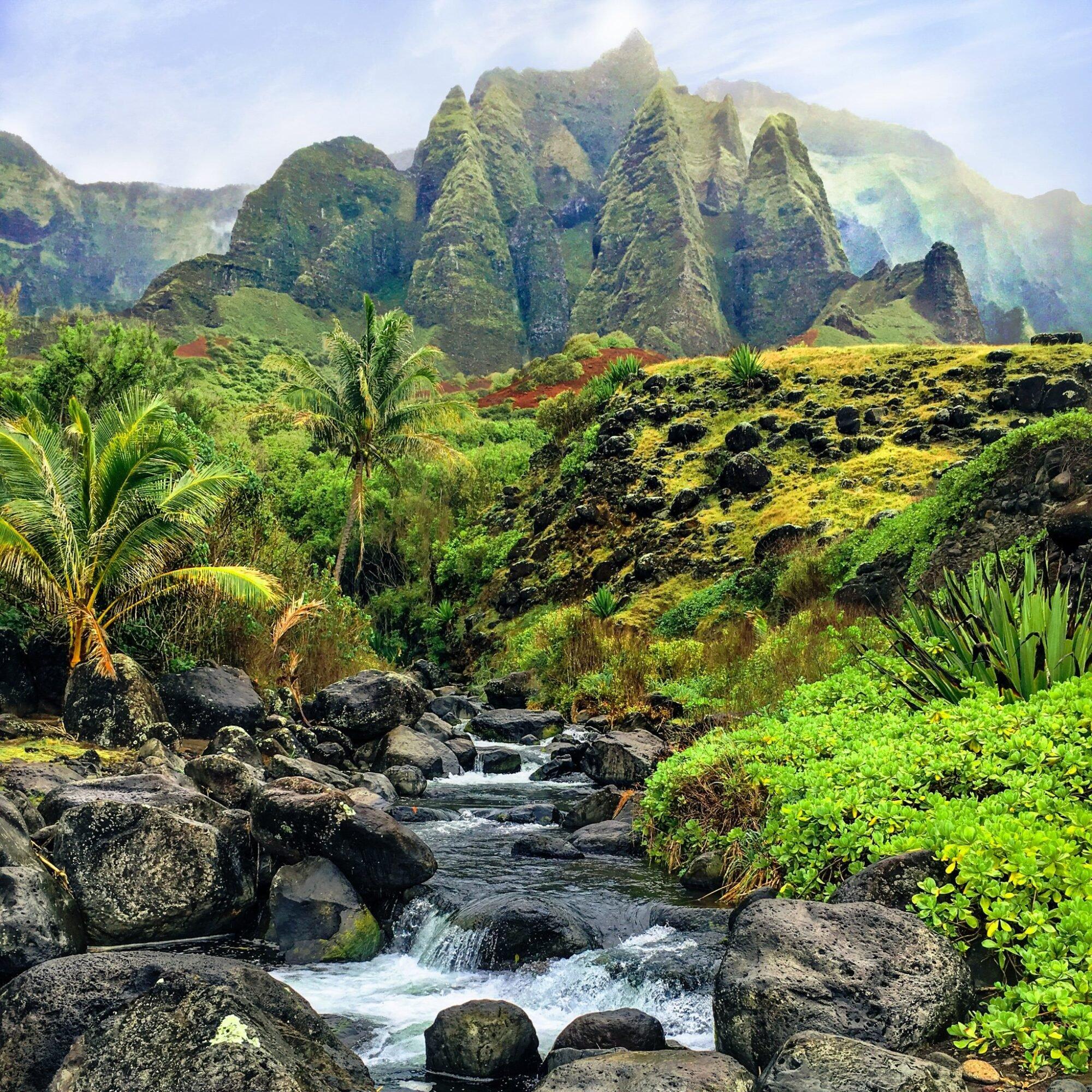 Beautiful landscape on the Napali Coast of Kauai, Hawaii.