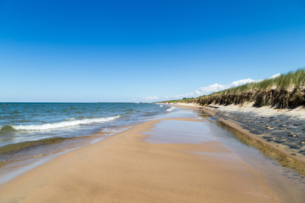 Beautiful Oval Beach in Michigan.
