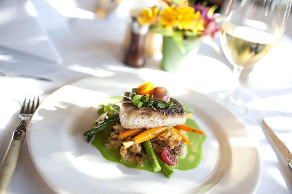 Beautiful plate, Bouchon, Santa Barbara.