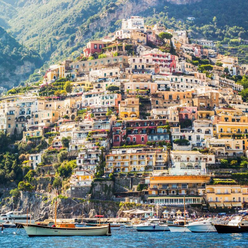Beautiful Positano, Italy, on the Amalfi Coast.