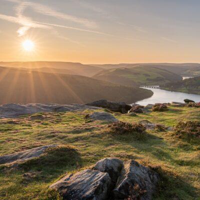 Beautiful rolling landscapes in Derbyshire's Peak District.