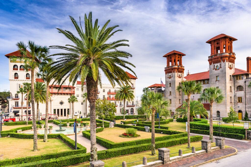Beautiful Spanish architecture in St. Augustine, Florida.