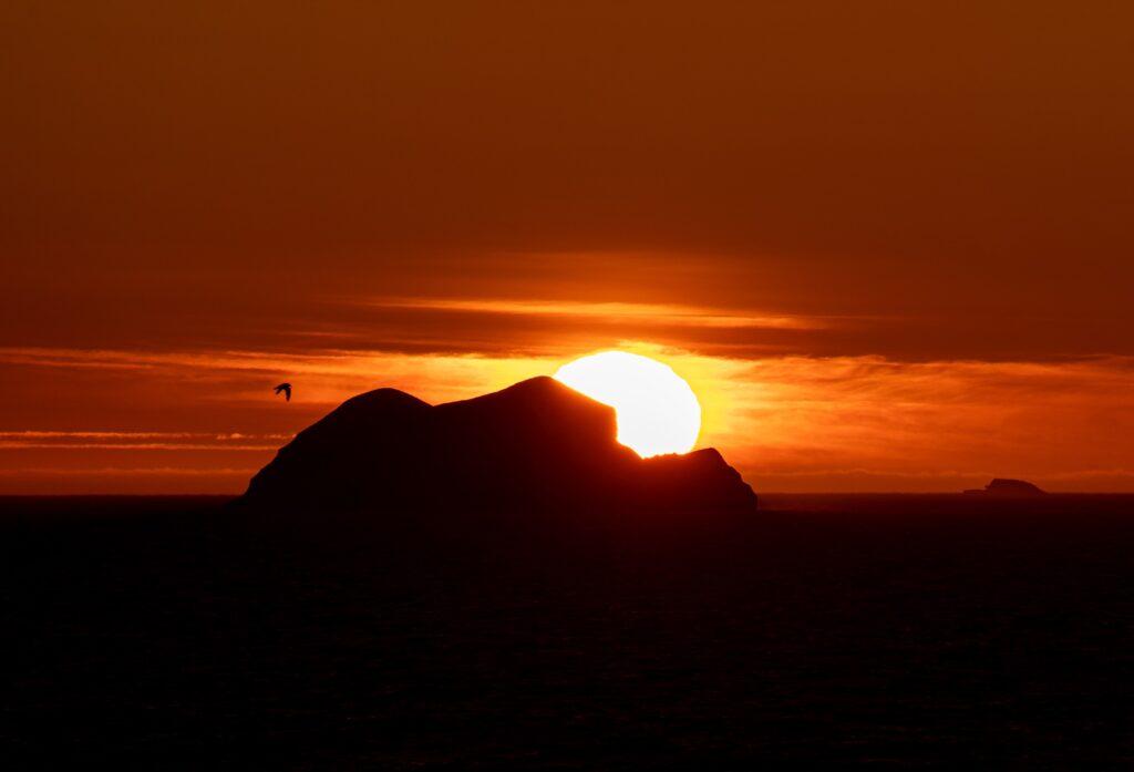 Beautiful sunset in Greenland.