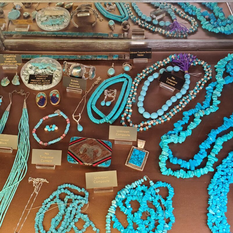 Beautiful turquoise jewelry for sale in New Mexico.