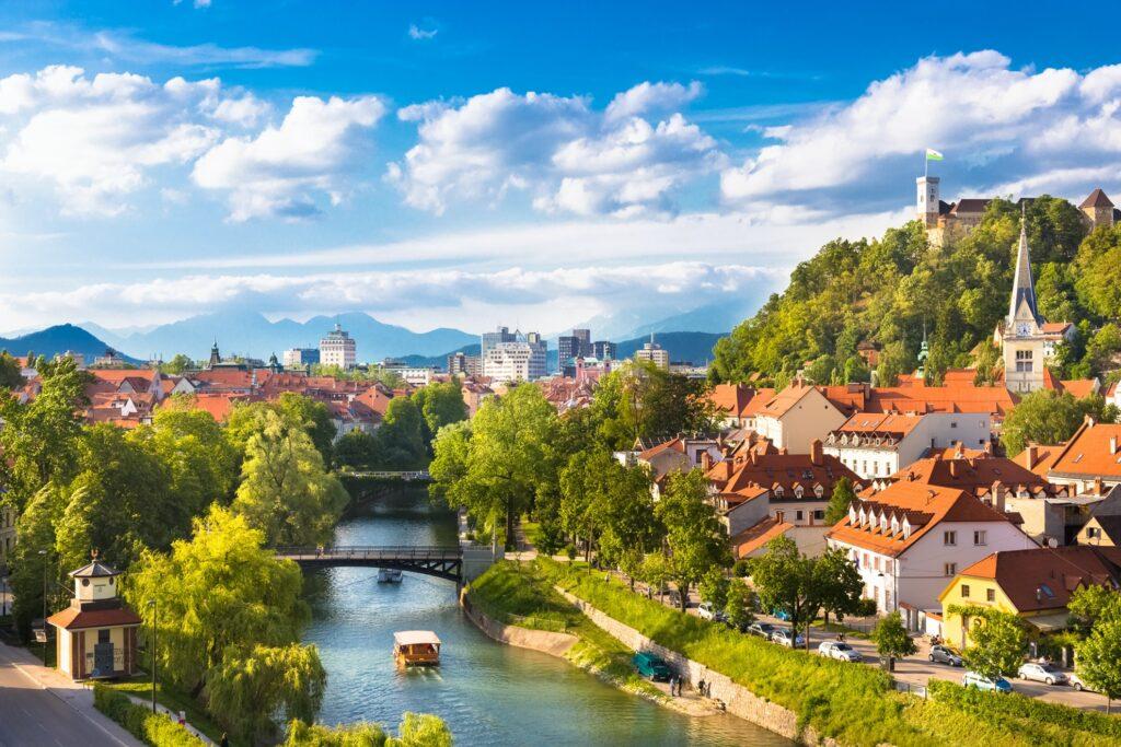 Beautiful views of Ljubljana, Slovenia.
