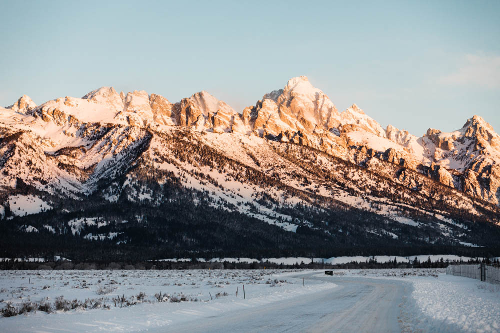 Beautiful winter landscape at Jackson Hole.