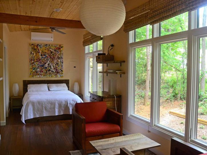 Bedroom of Arrowhead Cabin, Asheville, NC