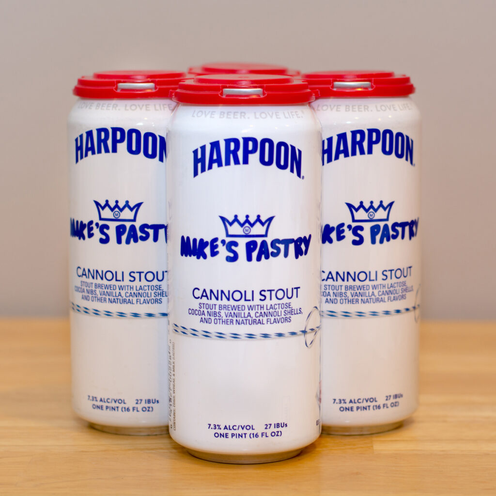 Beer from Harpoon Brewery.