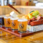Beer sampler, Spotted Dog Brewery, Las Cruces.