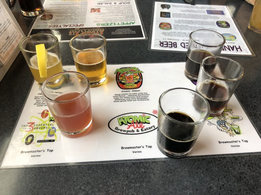 Beer sampling, Atomic Ale Brewpub and Eatery.
