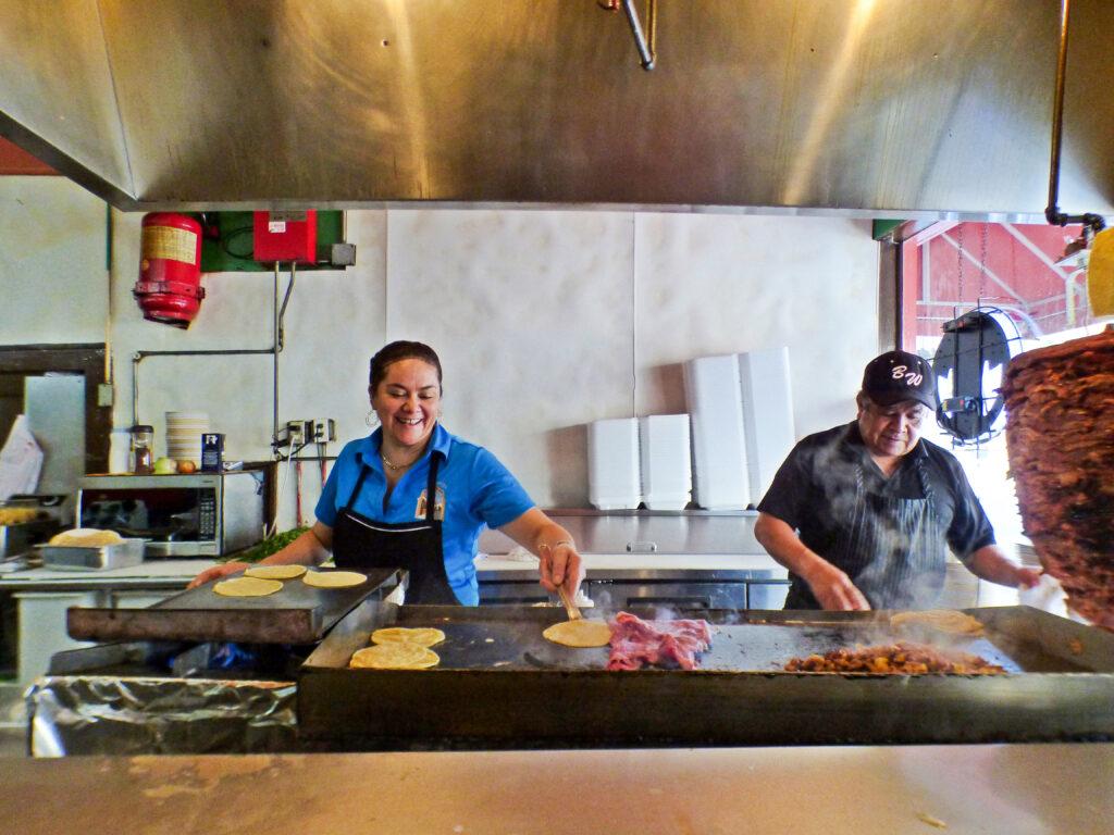 Behind the counter at El Camino Real.