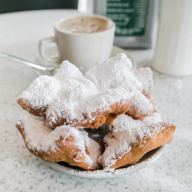 Beignets and coffee from Cafe Du Monde.