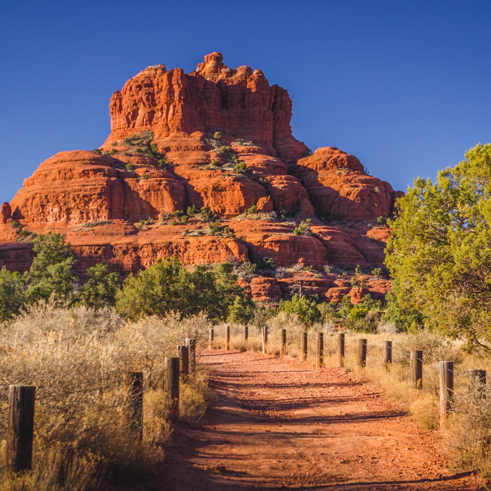 Bell Rock, a popular vortex spot in Sedona, Arizona.