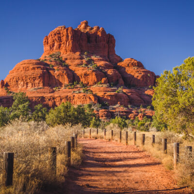 Bell Rock, a popular vortex spot in Sedona, Arizona.
