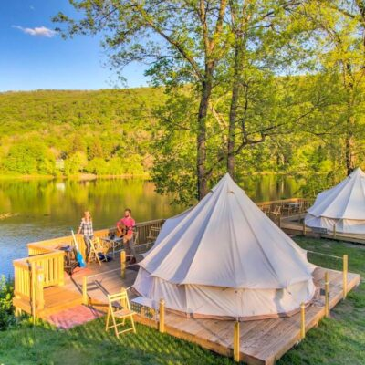 Bell tents in Pennsylvania.