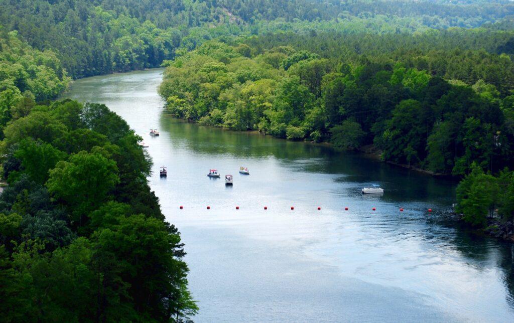 Below Blakely Dam in Arkansas.