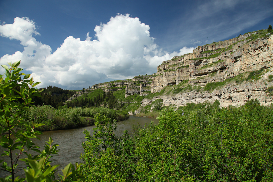 Belt Creek in Sluice Boxes State Park, Montana.