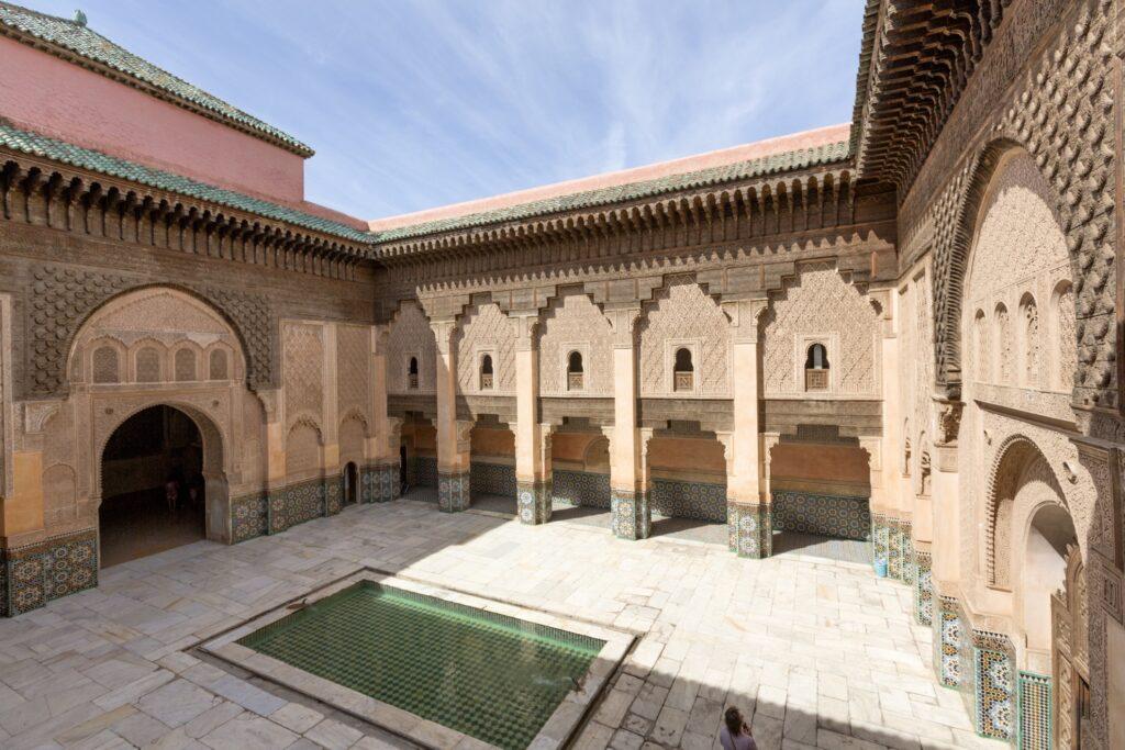 Ben Youssef mosque in Marrakesh.