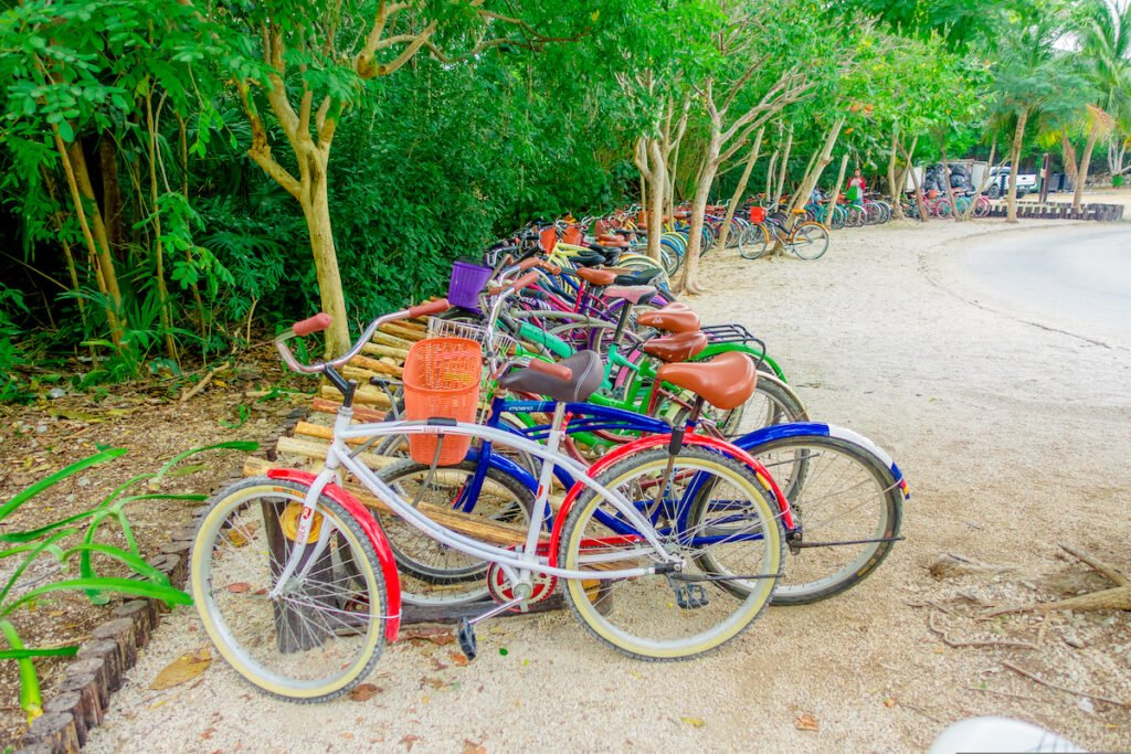 Bicycles in Tulum, Mexico.