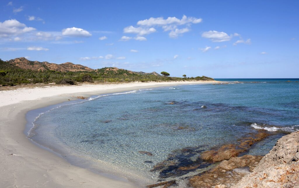 Bidderosa Beach in Sardinia, Italy.