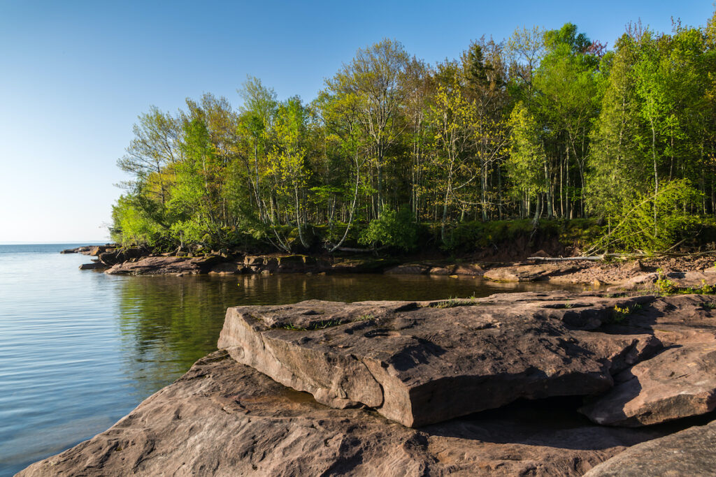 Big Bay State Park on Madeline Island in Michigan.