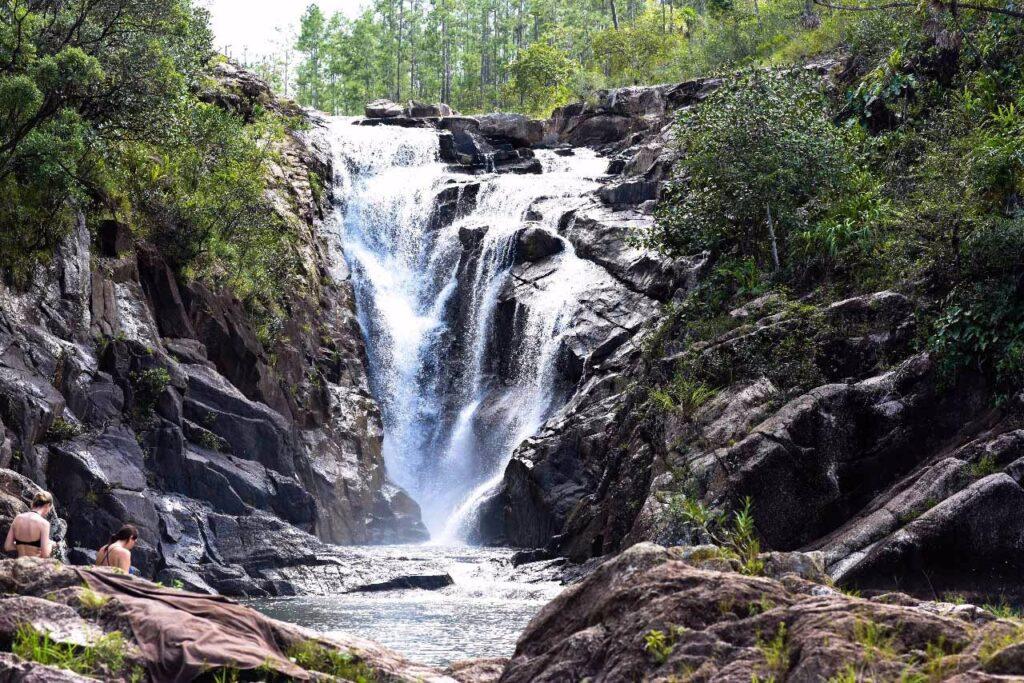 Big Rock Falls in Belize.