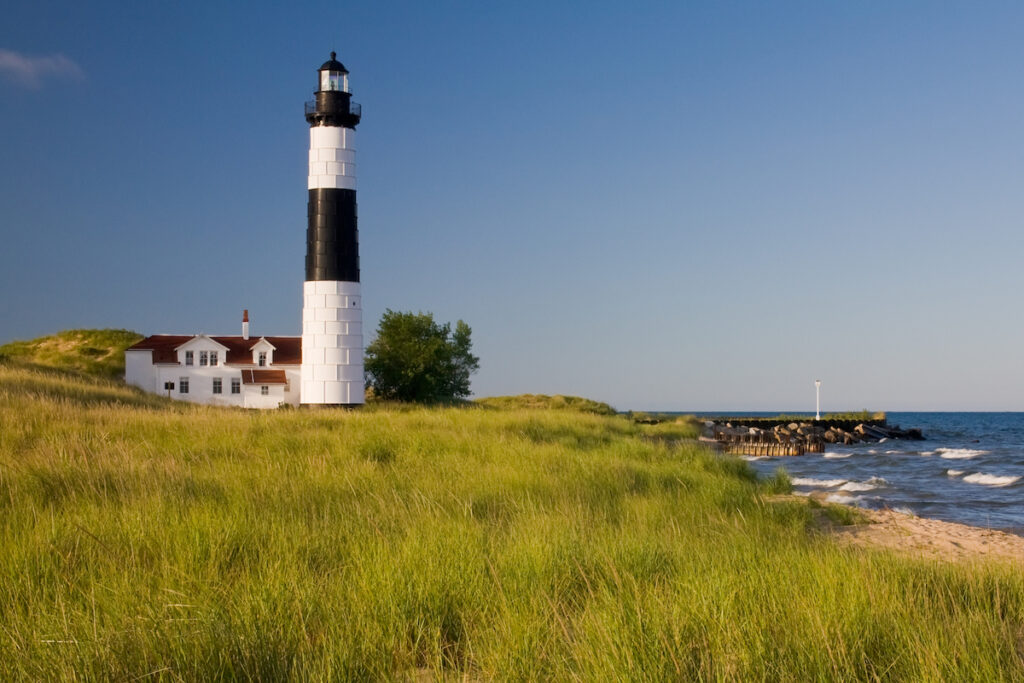 Big Sable Point Lighthouse in Ludington, Michigan.