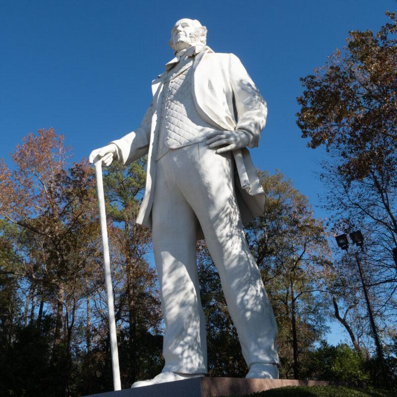 Big Sam, a statue of Sam Houston in Huntsville, Texas.