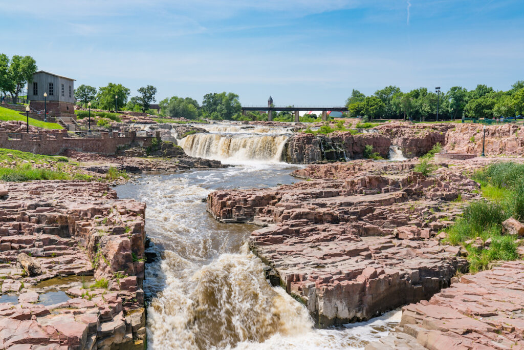 Big Sioux River at Falls Park in South Dakota.