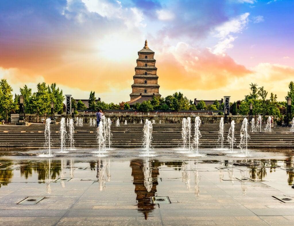 Big Wild Goose Pagoda in Xi'an.