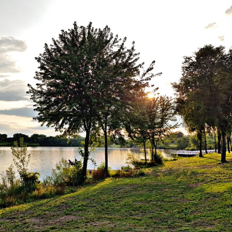 Big Woods Lake Campground in Cedar Falls, Iowa.