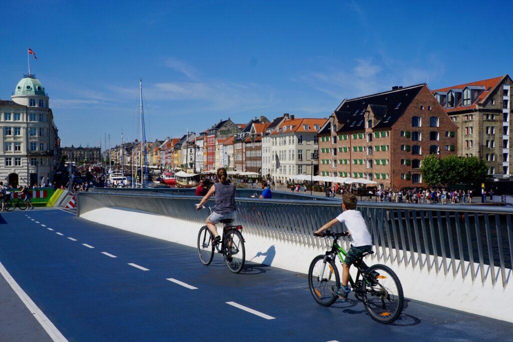 Bikers enjoying Copenhagen.
