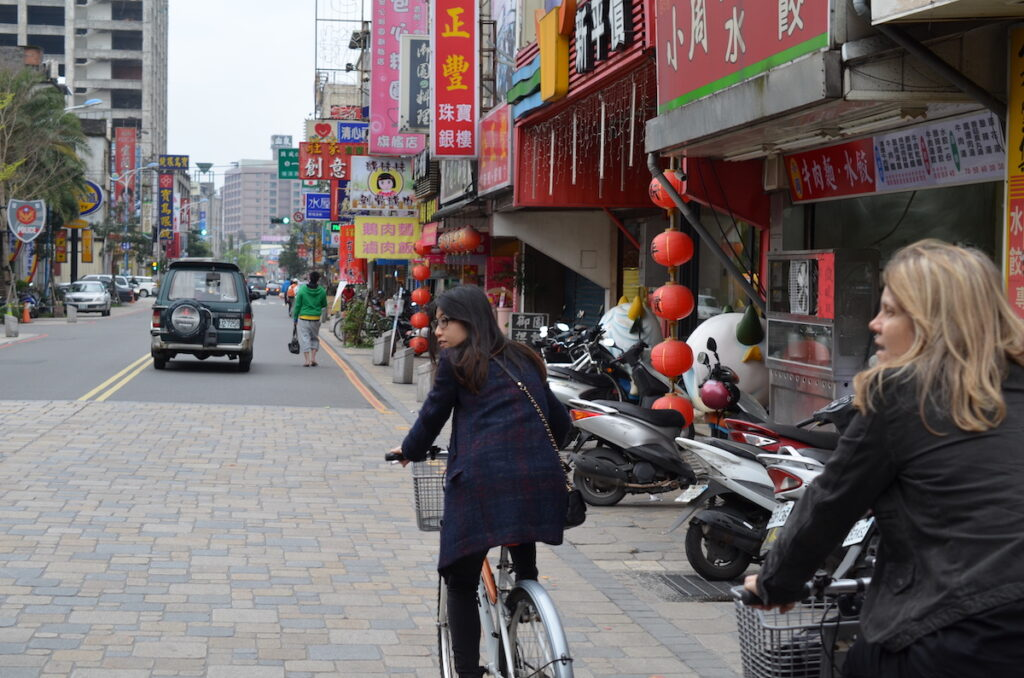 Biking in Jiaoxi, Taiwan.