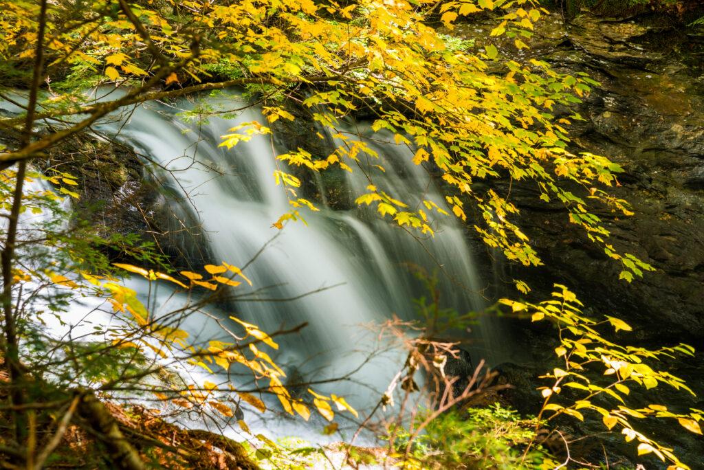 Bingham Falls at Smugglers' Notch State Park.