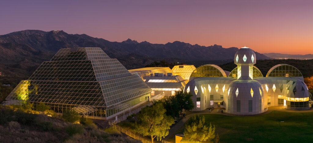 Biosphere 2 in Pinal County, Arizona.