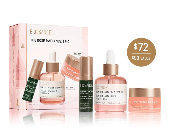 Biossance Rose trio bundle