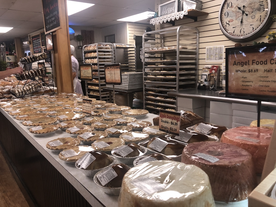 Bird-in-Hand Bake Shop, an Amish market in Lancaster.