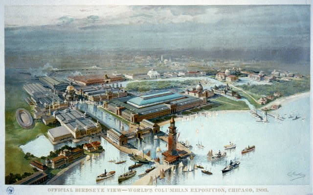 Birdseye view of the World's Columbian Exposition, Chicago, 1893
