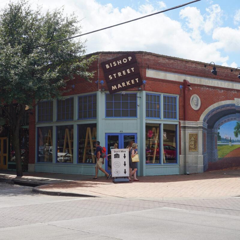 Bishop Street Market in the Bishop Arts District in Dallas, Texas.