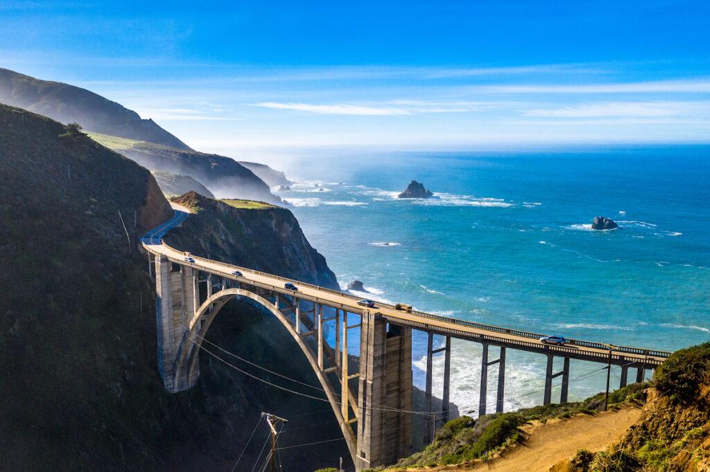 Bixby Bridge in Big Sur, California.