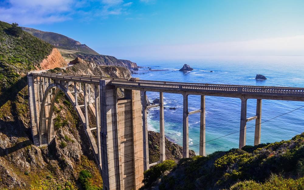 Bixby Bridge on California's Big Sur coast.